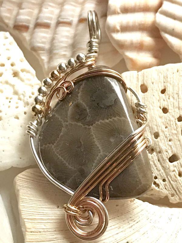 Petoskey Stone Jewelry And Michigan Green Wire