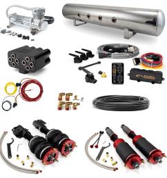 home air suspension systems mitsubishi evo x accuair stage 3 air suspension system 08 15 evolution x all models  [ 2400 x 2400 Pixel ]