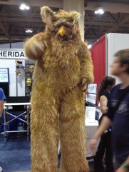 A monster wondering the con