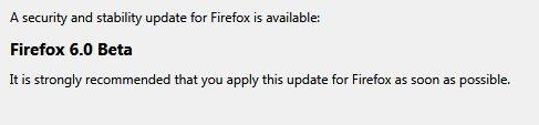 Firefox 6 Beta Update