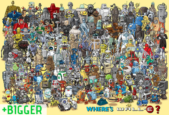 Where's Wall-E? Can you find him?