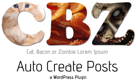 Cat, Bacon, Zombie, WordPress