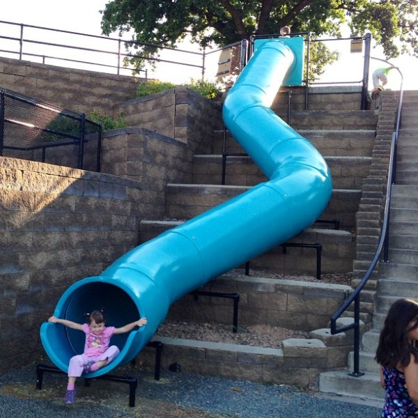 now that u0026 39 s a slide  at staring lake park