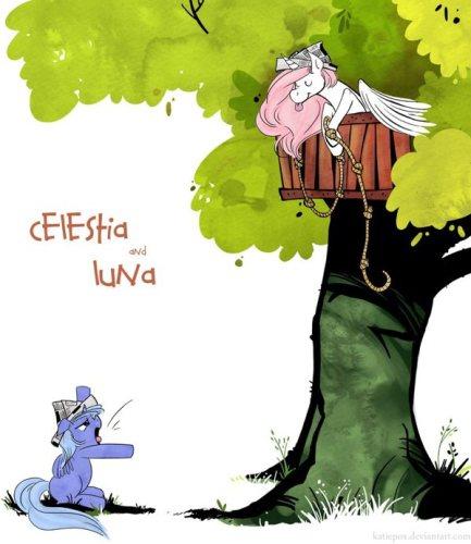 Celestia and Luna - My Little Ponies