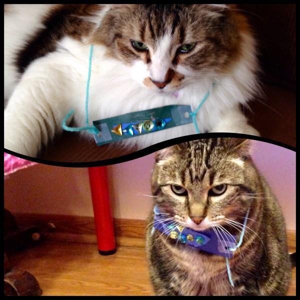Bedazzled Cat Necklaces