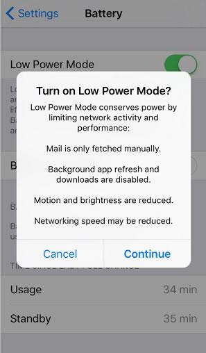 Apple's Setting Screen