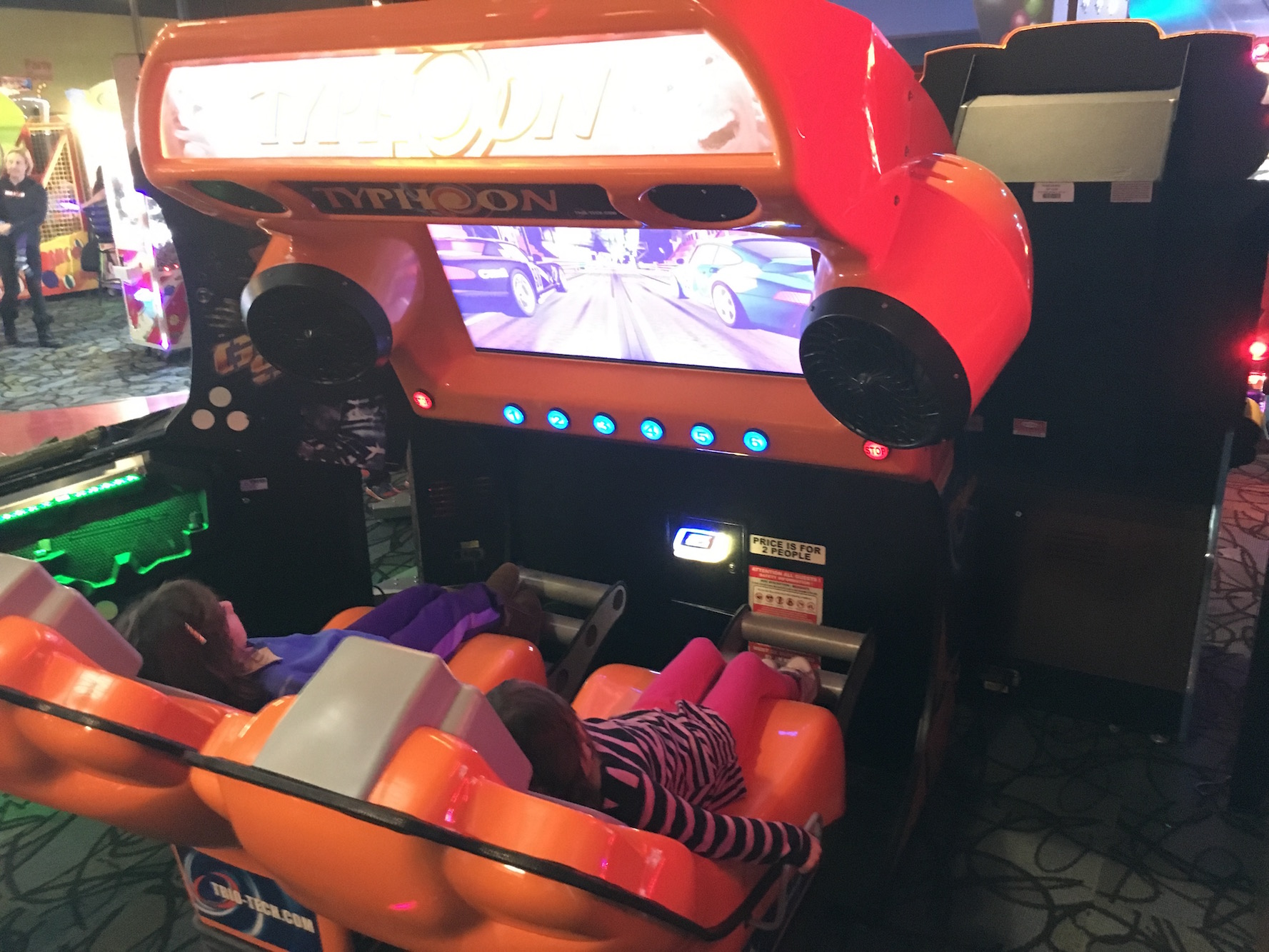 One of the video games where they got to sit back and feel like they were driving or flying.