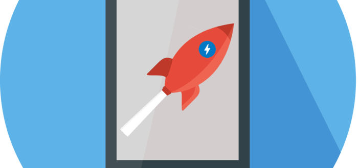 Smartphone with Rocket