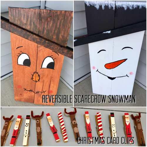 Reversible Scarecrow Snowman