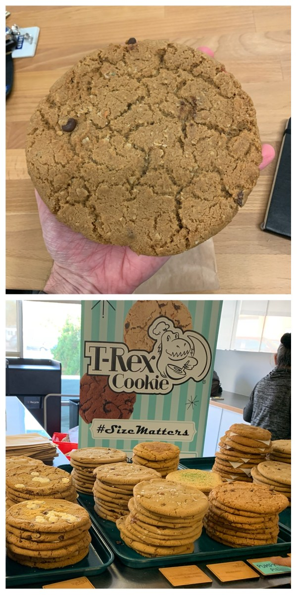 Giant Cookies the size of my hand.