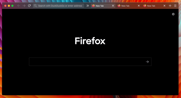 Firefox Transparent One-Line/Two-Line Theme Screenshot