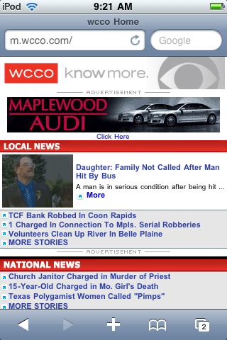 WCCO Mobile Website