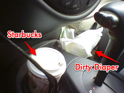 Starbucks & a Dirty Diaper