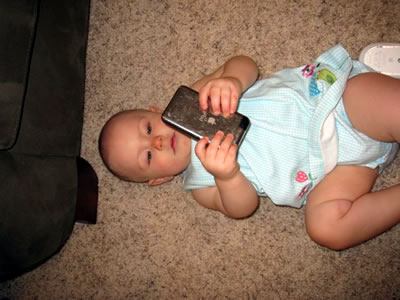Lily on the iPod Touch