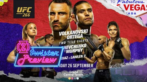 UFC 266 Volkanovski Ortega