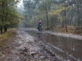 Susanne offroading in the forrest.
