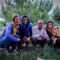 Farmer with smart daughters in Iran