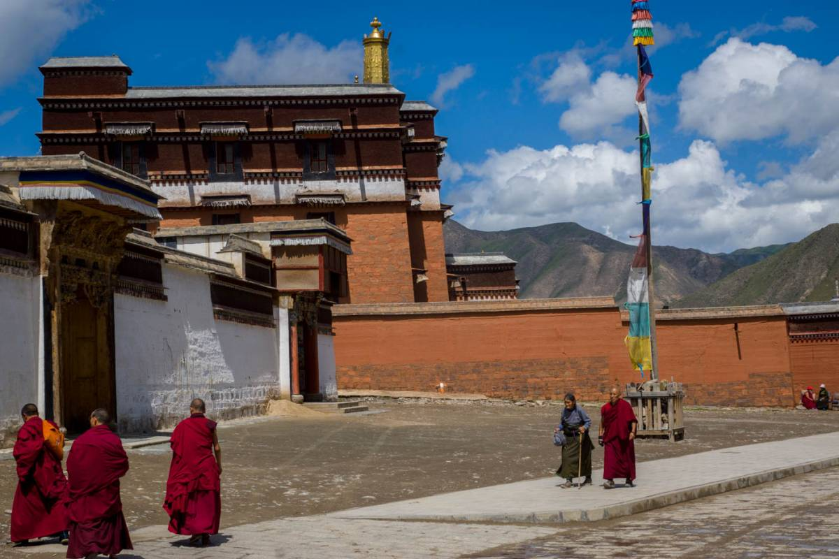 Monks at Labrang Monastery