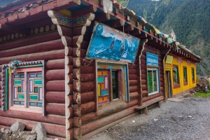 A shop on the road run by a monk