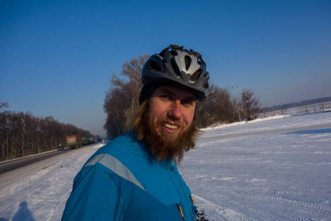 smile winter cycling