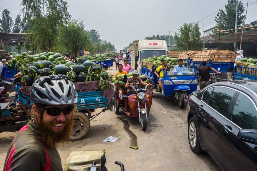 Watermelon traffic jam