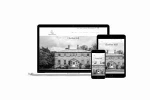 charlton hall website mockup