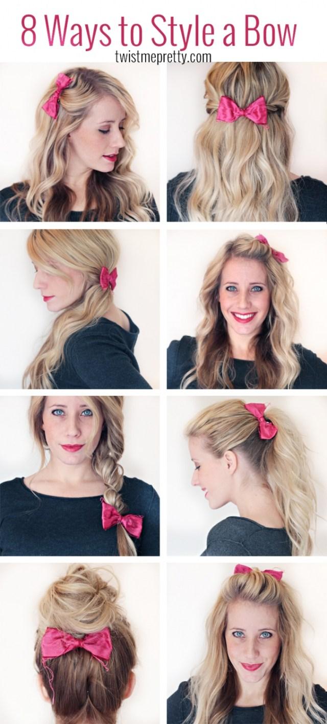 8 ways to style a bow - twist me pretty