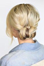 2 minute braided bun - twist
