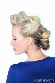 1940's pin girl hairstyle tutorial