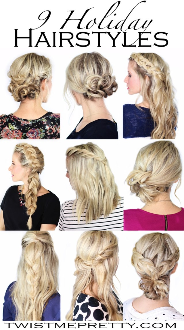 9 holiday hairstyles - twist me pretty