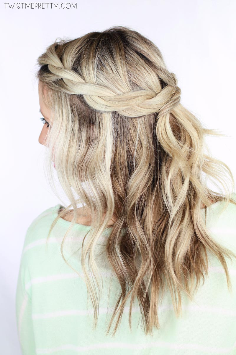Twisted Crown Braid Tutorial Twist Me Pretty