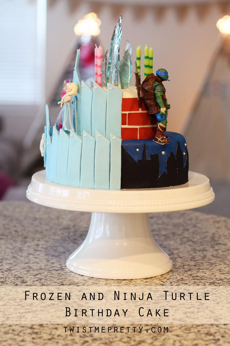 Fall Out Boy Wallpaper 2015 Frozen And Ninja Turtle Birthday Cake Twist Me Pretty