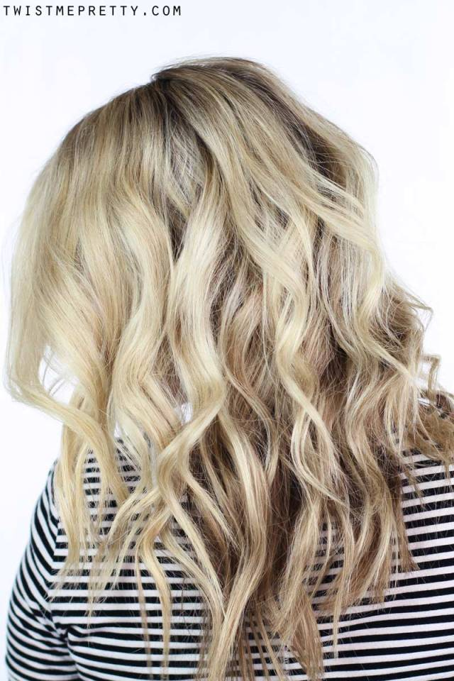 how to: soft waves using a curling wand - twist me pretty