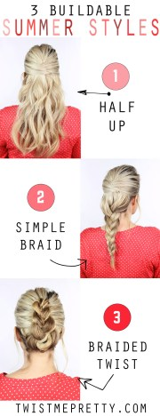 3 easy summer hairstyles - twist