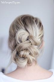 easy braided updo - twist pretty