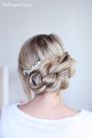easy braided updo - twist pretty