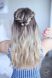 cute summer twists beach hairstyle