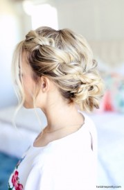 easy homecoming updo twisted
