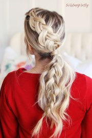 braided ponytail perfect christmas