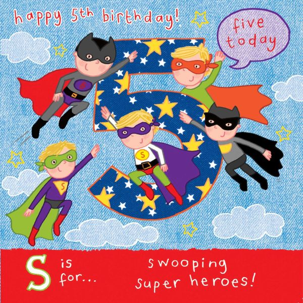 More 5 Year Old Boy Birthday Card Cards For Boys Super Heroes