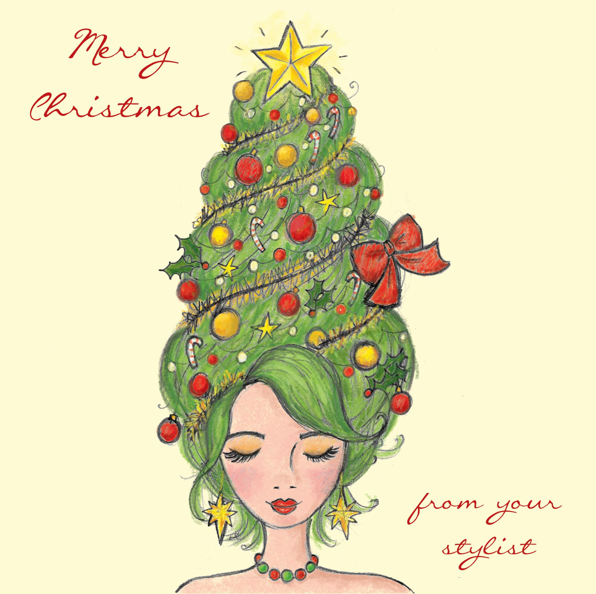 Hairdressers Christmas Cards Pack Of 30