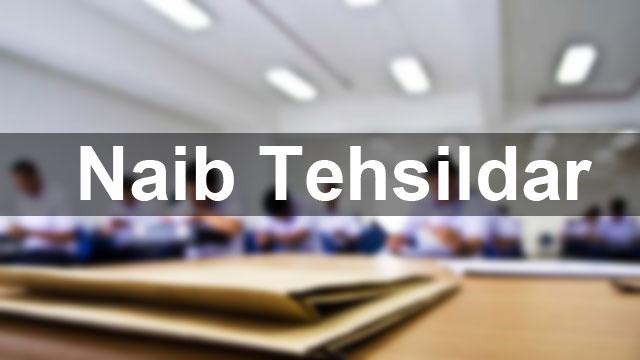 Post of Naib Tehsildar