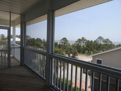 Three Palms- View of Beach and Gulf of Mexico-From Top Floor Screened in Deck- Unobstructed Views-8