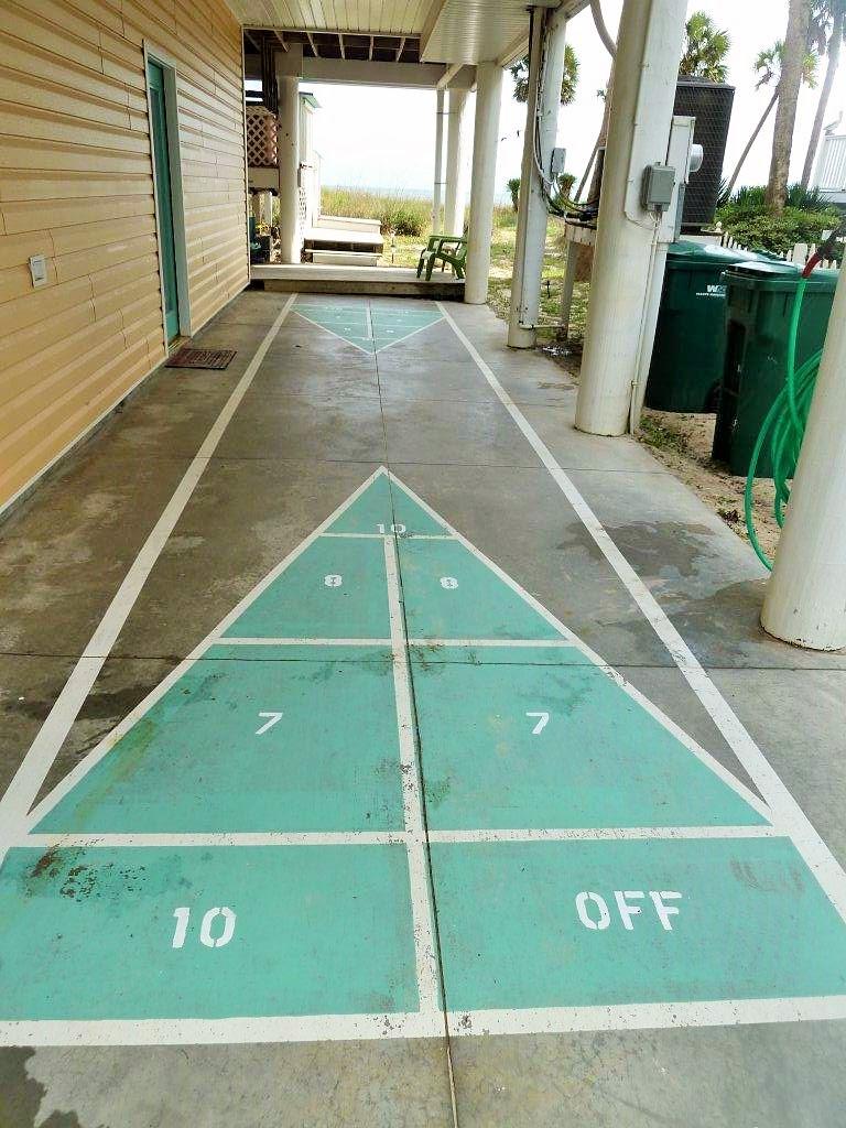 Shuffle Board in CarPort