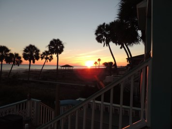 Two Palms Villa- Sunset -From Deck-West-Right