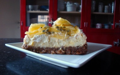 Sweet Saturday – Baked Lime Cheesecake with Ricotta, Pineapple and Passion-fruit