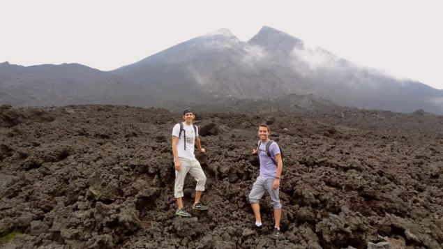 Hiking a volcano in Guatemala