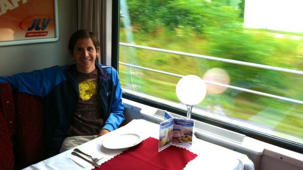 Dining car in European train