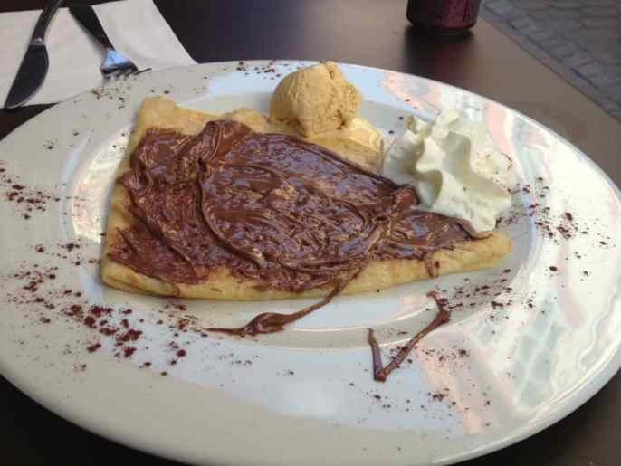 Nutella crepe in Toulouse