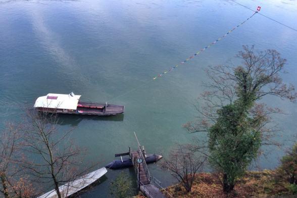 Ferry in the Rhine River